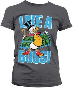 camiseta pato donald gris