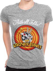 camiseta pato lucas mujer looney tunes