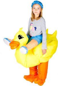 disfraz hinchable de pato niño
