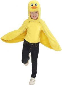 capa con capucha de pato para niño