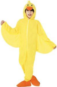 disfraz de pato amarillo niño