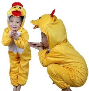 disfraz de patito amarillo niño