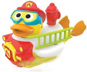 Juguete para baño pato bombero