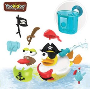 Juguete para baño pato pirata