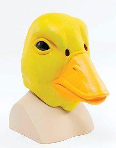mascara de pato amarillo
