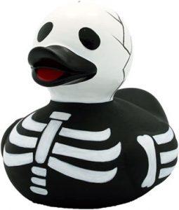 pato de goma esqueleto de halloween