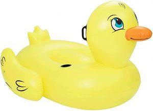 Pato hinchable con posavasos