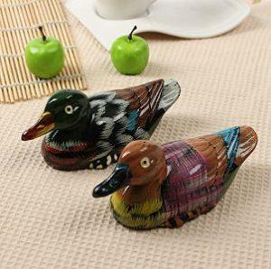 patos de resina pintados a mano