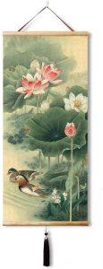 pintura china de patos mandarines
