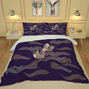 ropa de cama de patos mandarines