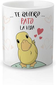 taza de pato enamorado